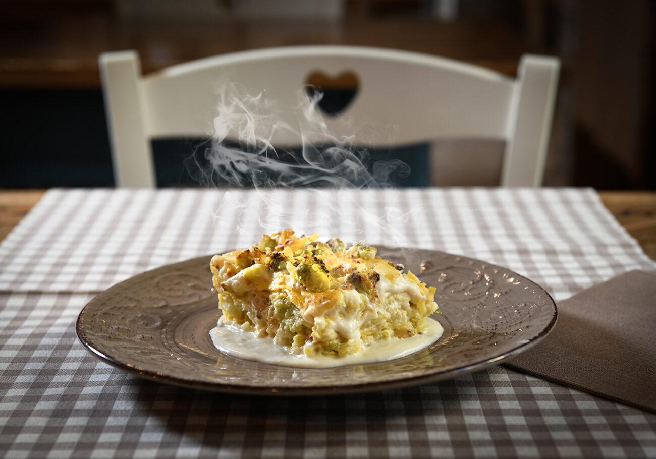Il Quinto Quarto El Licinsì lasagna cavolo ronchi formaggio fatulì foto Marioli