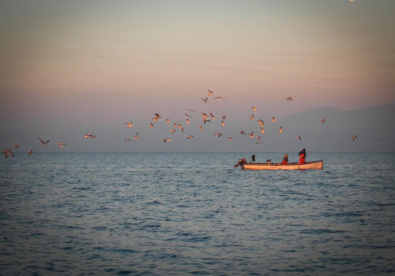 Il Quinto Quarto Lago di Garda pescatore foto Aglietta
