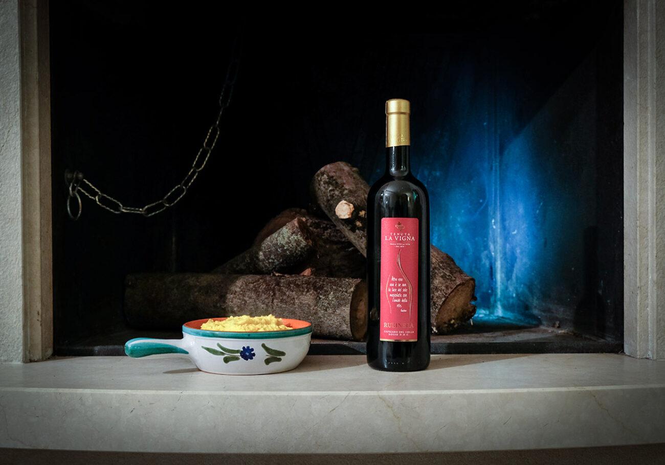 Il Quinto Quarto Tenuta La Vigna vino Rubinera Polenta Taragna foto Marioli